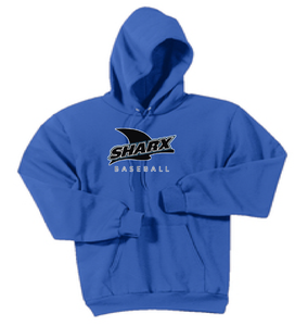 Core Fleece Pullover Hooded Sweatshirt - Sharx Baseball - Fidgety