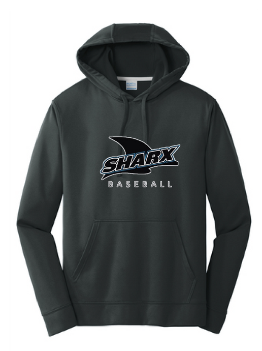 Performance Fleece Pullover Hooded Sweatshirt / Jet Black/ Sharx Baseball - Fidgety