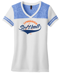 Lynnhaven Softball Raglan Short Sleeve Shirt - Fidgety