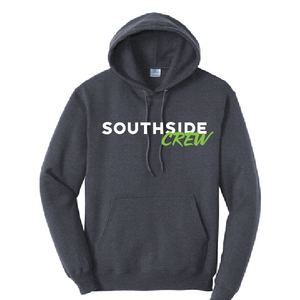 Fleece Hooded Sweatshirt (Youth & Adult) / Navy / Southside Crew