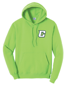 Fleece Hooded Sweatshirt (Youth & Adult) / Neon Green / Southside Crew