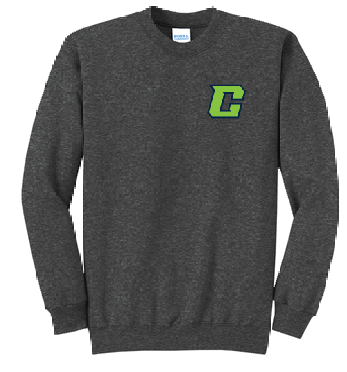 Crew Fleece Crewneck Sweatshirt (Youth & Adult) / Heather Grey / Southside Crew