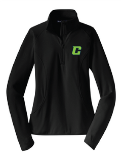 Ladies Sport-Wick Stretch 1/2-Zip Pullover / Black / Southside Crew