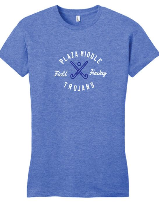 Ladies Tri-Blend T-Shirt / Heather Royal / Plaza Field Hockey - Fidgety