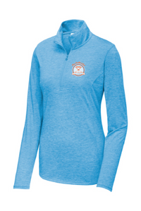 Performance Tri-Blend Wicking 1/4-Zip Pullover / Heather Blue / Plaza Field Hockey - Fidgety