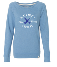Champion French Terry Boat Neck Sweatshirt / Heather Blue / Plaza Field Hockey - Fidgety