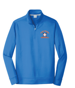 Performance Fleece 1/4-Zip Pullover Sweatshirt / Royal / Plaza Baseball - Fidgety