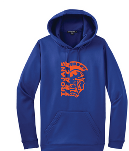 Fleece Hooded Sweatshirt / Royal / Plaza Track - Fidgety