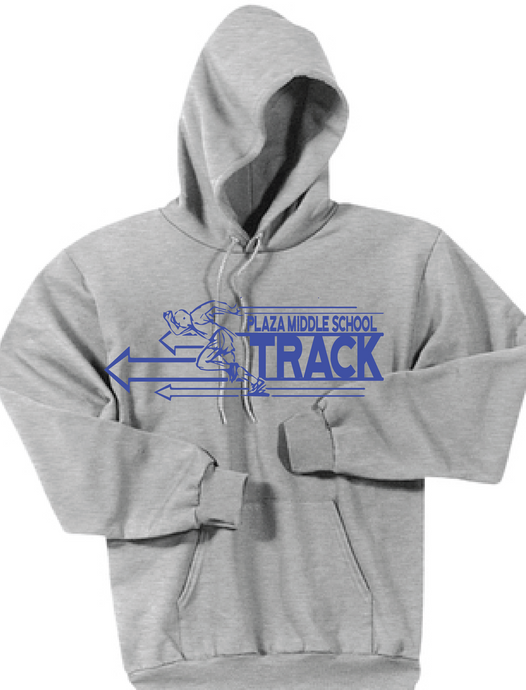 Fleece Hooded Sweatshirt / Grey / Plaza Track - Fidgety