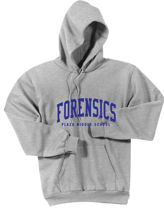 Fleece Hooded Sweatshirt / Grey / Plaza Forensics - Fidgety