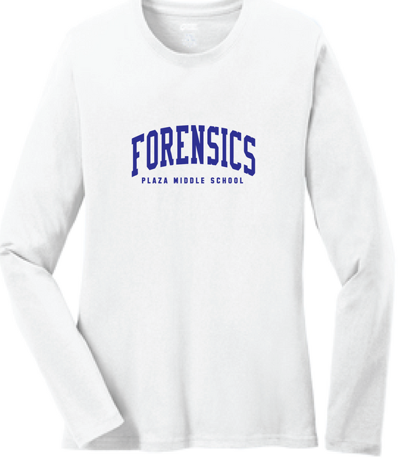 Long Sleeve T-Shirt / White / Plaza Forensics - Fidgety