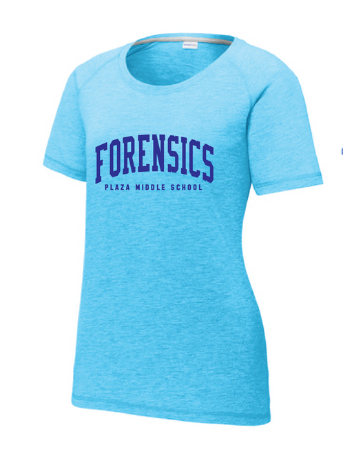Tri-Blend Scoop Neck T-shirt / Light Blue / Plaza Forensics - Fidgety