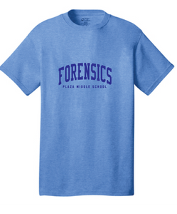 Cotton T-Shirt / Royal / Plaza Forensics - Fidgety