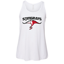 Youth Flowy Racerback Tank / White / Stingrays Swim Team - Fidgety