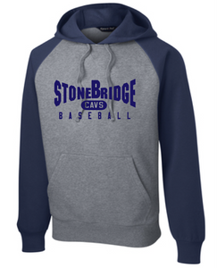 Colorblock Hooded Sweatshirt / Navy & Vintage Heather / StoneBridge Baseball