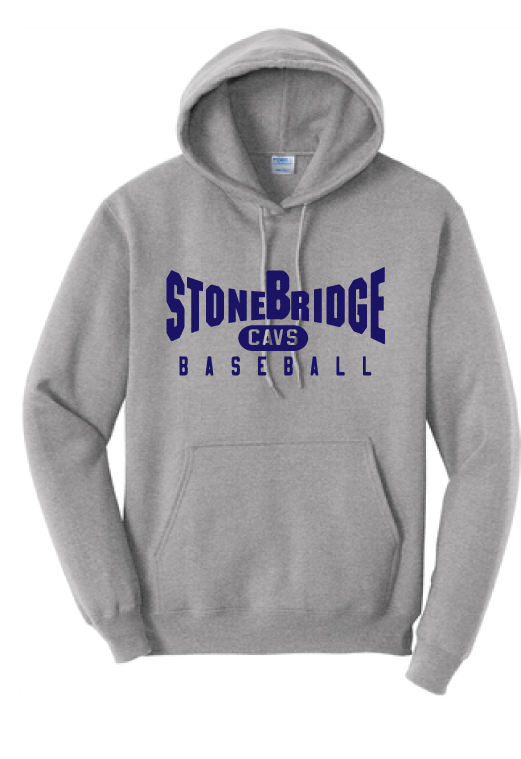Fleece Hooded Sweatshirt (Youth & Adult) / Ash / StoneBridge Baseball