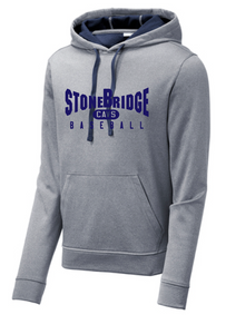 PosiCharge Sport-Wick Fleece Hooded Sweatshirt / Navy Heather / StoneBridge Baseball