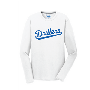 Long Sleeve Core Cotton Tee / White / Tidewater Drillers - Fidgety