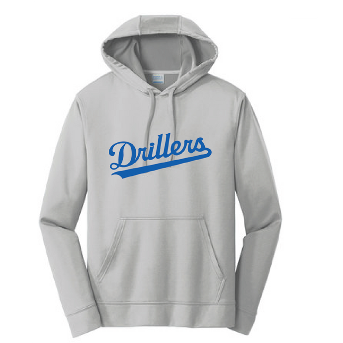 Performance Fleece Pullover Hooded Sweatshirt / Silver / Tidewater Drillers - Fidgety