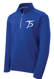 Sport-Wick Textured 1/4-Zip Pullover / True Royal / Tidewater Drillers - Fidgety