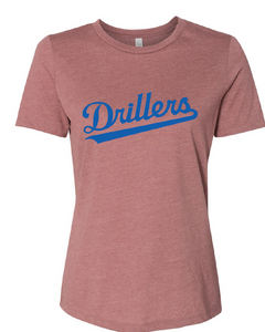 Women's Relaxed Short Sleeve Jersey Tee /  Heather Mauve / Tidewater Drillers - Fidgety