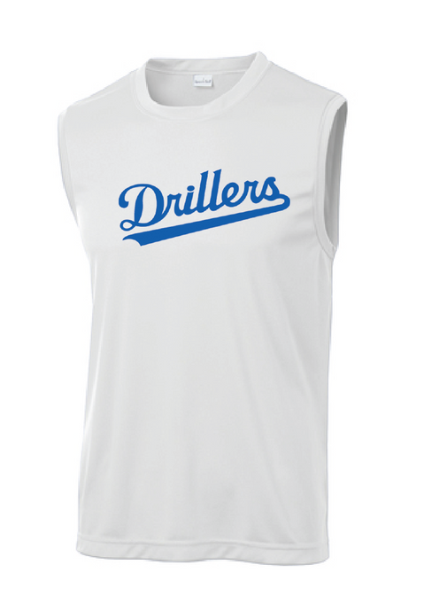 Sleeveless PosiCharge Competitor Tee / White / Tidewater Drillers - Fidgety