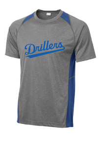 Heather Colorblock Contender Tee / Vintage Heather and True Royal / Tidewater Drillers - Fidgety