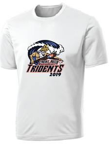 Adult Performance Tee/ White / Tridents - Fidgety