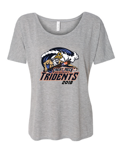 Women's Slouchy T-Shirt / Gray / Tridents - Fidgety