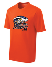 Men's PosiCharge Racer Mesh Tee / Neon Orange / Tridents Baseball - Fidgety