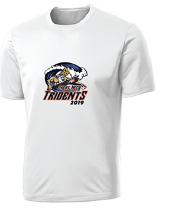 Youth Performance Tee/ White / Tridents - Fidgety
