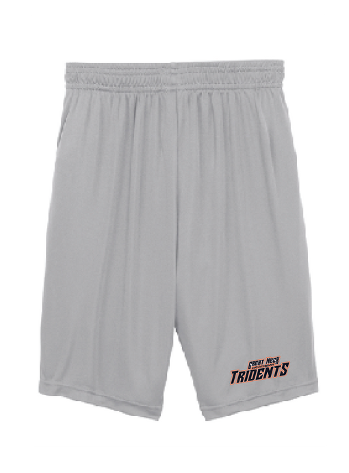 Youth PosiCharge Competitor Shorts / Silver / Tridents - Fidgety