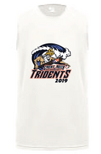 Youth Dri-Fit Sleeveless Shirt / White/ Trdents - Fidgety