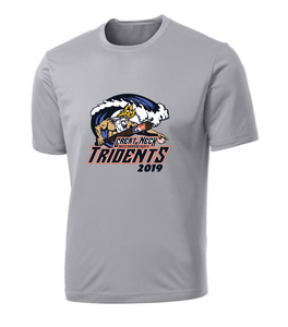 Adult Performance Tee / Gray / Tridents - Fidgety