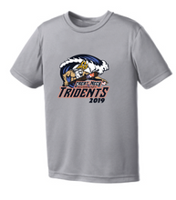 Youth Performance Tee / Gray  / Tridents - Fidgety