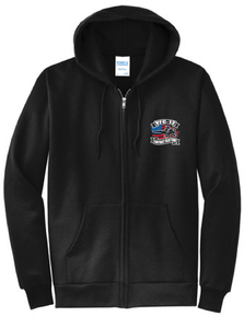 Fleece Full-Zip Hooded Sweatshirt / BLACK / VFC-12 - Fidgety