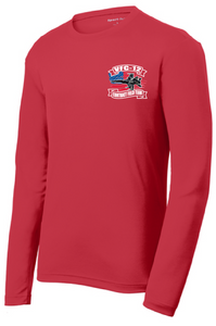 PosiCharge RacerMesh Long Sleeve Tee / Red / VFC-12 - Fidgety
