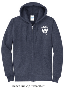 Fleece Full Zip Hooded Sweatshirt / Navy / WBC - Fidgety