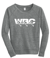 Women's Sponge Fleece Wide-Neck Sweatshirt / Grey Triblend / WBC - Fidgety