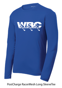PosiCharge RacerMesh Long Sleeve Tee / Royal Blue / WBC - Fidgety