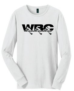 Long Sleeve Cotton Tee / White / WBC - Fidgety