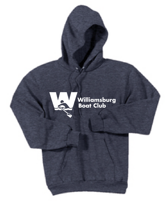 Fleece Pullover Hooded Sweatshirt / Heather Navy / WBC - Fidgety