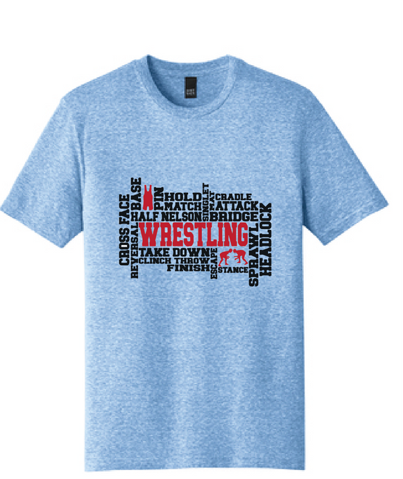 Wrestling Tri-Blend T-Shirt / Light Blue / Wrestling - Fidgety