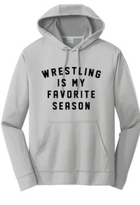 Wrestling Favorite Performance Hoody / Silver / Wrestling