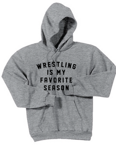 Wrestling Favorite Fleece Hooded Sweatshirt / Ash Gray / Fidgety