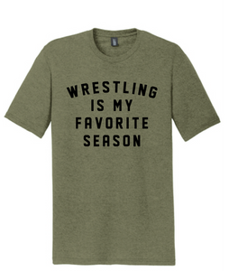 Wrestling Favorite Softstyle T-Shirt / Military Green / Fidgety