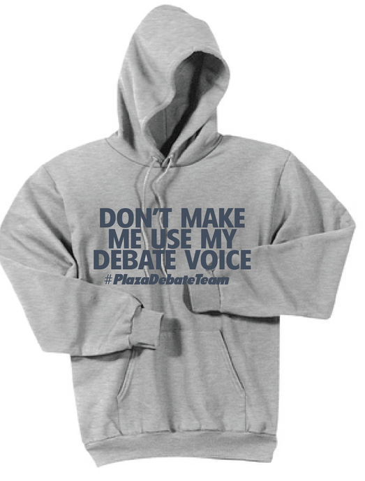 Debate Fleece Hooded Sweatshirt / Ash Gray / Plaza Debate - Fidgety
