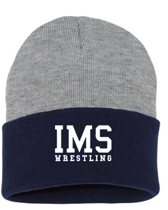 Knit Beanie / Navy & Gray / Independence Wrestling - Fidgety