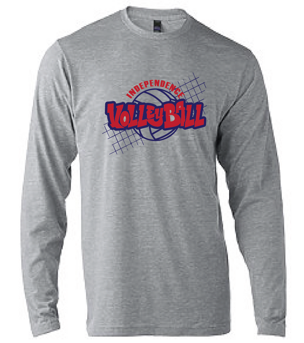 Softstyle Long Sleeve T-Shirt / Sport Gray / Independence Volleyball - Fidgety