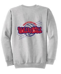 Fleece Crewneck Sweatshirt / Ash Gray / Independence Volleyball - Fidgety